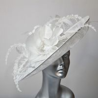 16365 White Bridal Hat Hatinator SD714